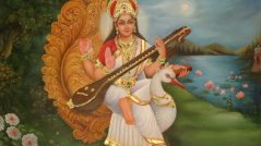 Goddess-Saraswati-Mount-On-Swan